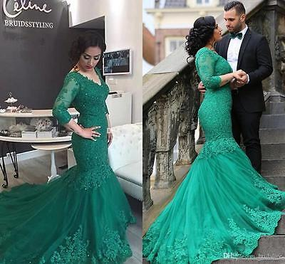 Long Prom Formal Ball Gown Party Cocktail Wedding Evening Dress Custom Made