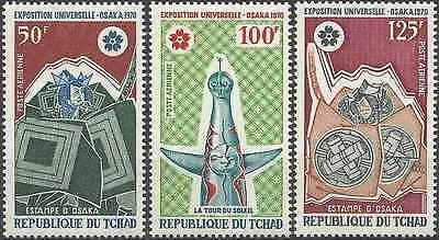 Timbres Tchad PA69/71 * (7721)