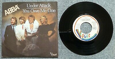 """ABBA - Under Attack - 7"""" Single - France - Vogue"""