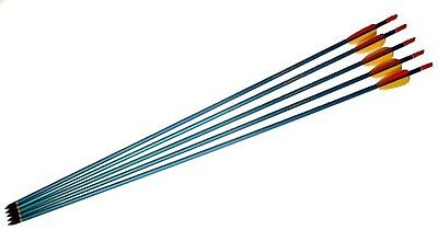 "5 X 31"" ALUMINIUM FIELD ARROWS BLACK TIP steel ally"