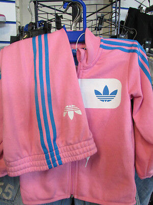 Size Cribs 9/12 Months - Adidas 3 Stripes Street Diver Full Cribs Tracksuit Pink