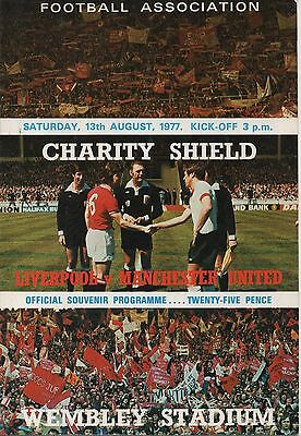 LIVERPOOL v MANCHESTER UNITED 13.08.77 F.A.CHARITY SHIELD