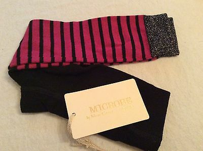 Bnwt Microbe Footless Sparkle Tights Age 3-4 Tag Price £35 ☃❄️☃Designer Sale