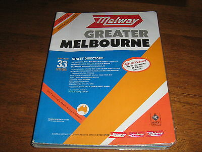 Melway Greater Melbourne Street Directory No 33 ..2006