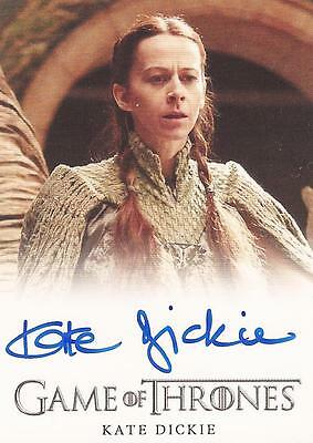 "Game of Thrones Season 4 - Kate Dickie ""Lysa Arryn"" Autograph Card"
