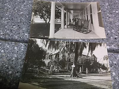 The Oaks Hotel Rockledge Florida Post Card Pair