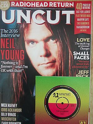 Uncut Magazine August 2016 with CD - Neil Young, Small Faces, Jeff Beck etc