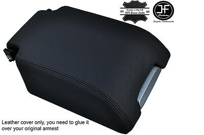 Black Stitch Genuine Leather Armrest Cover Fits Landrover Discovery 3 4 Lr3 Lr4