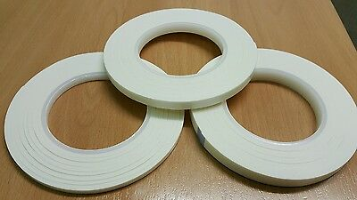 Double Sided 3D White Super Sticky Foam Tape Adhesive Card Making+Craft 6,9,12mm