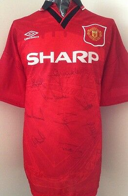 Manchester United 1994/96 Original Umbro Multi Signed Shirt With Guarantee