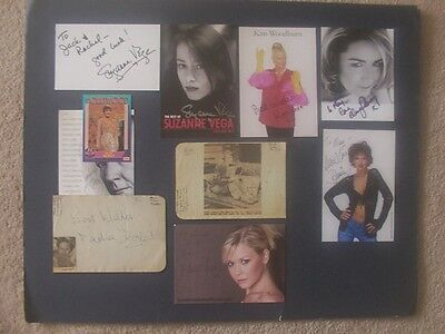 14 Female Film / Television / Music Star Autographs
