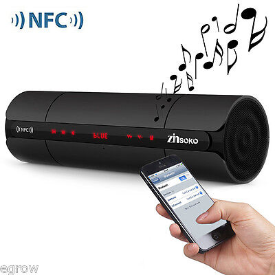 Portable Wireless Bluetooth Music Speaker Rechargeable with AUX FM Radio Wooden