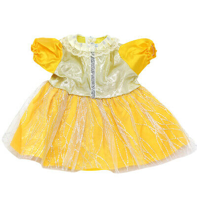 Fashion Sequins Party Dress Clothing for 18 Inch American Girl Doll Yellow