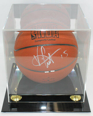 Vice Carter Autographed Baseketball With Display Case PSA/DNA COA