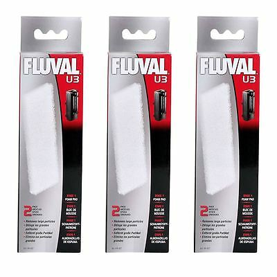 Fluval U3 Aquarium Stage 1 Filter Foam Pads *Genuine* 3 Packs of 2 BUNDLE