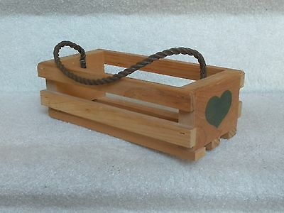 Amish Wooden Napkin Holder with Green Hearts