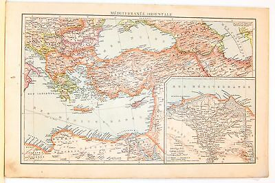 Cartina Geografica Mediterraneo Occidentale.Carta Geografica Antica Mediterraneo Occidentale Italia 1880 Old Antique Map Eur 25 00 Picclick It