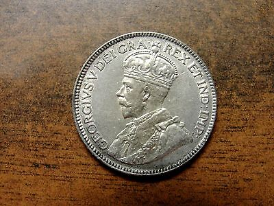 1929 Canada Silver Quarter Twenty Five Cents High Grade King George V