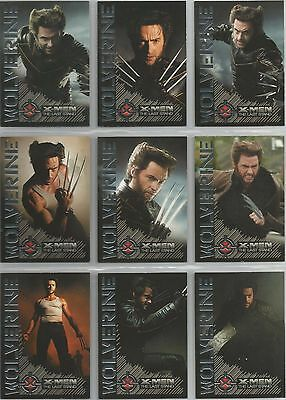 """X-Men The Last Stand: """"Wolverine: Portraits of a Hero"""" Set of 9 Chase Cards W1-9"""