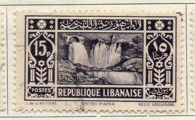 Great Lebanon 1930 Early Issue Fine Used 15p. 109502