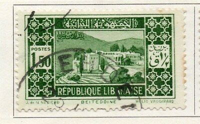 Great Lebanon 1931 Early Issue Fine Used 1.50p. 109511
