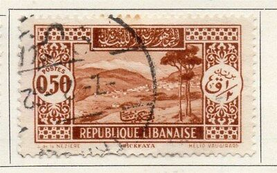 Great Lebanon 1930 Early Issue Fine Used 50p. 109522