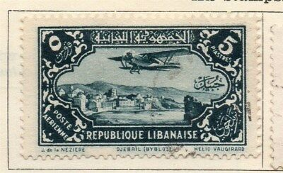 Great Lebanon 1930 Early Issue Fine Used 5p. 109537