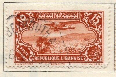 Great Lebanon 1930 Early Issue Fine Used 15p. 109539