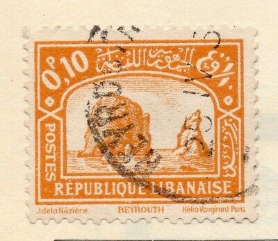Great Lebanon 1931 Early Issue Fine Used 10p. 109541