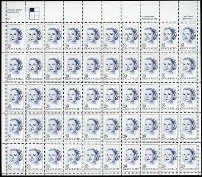 Grace Kelly Full Sheet of Fifty 29 Cent Stamps Scott 2749 By USPS