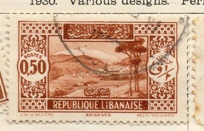 Great Lebanon 1930 Early Issue Fine Used 50p. 109565