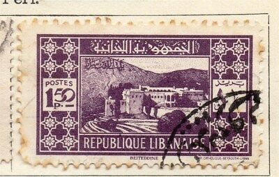 Great Lebanon 1930 Early Issue Fine Used 1.50p. 109566