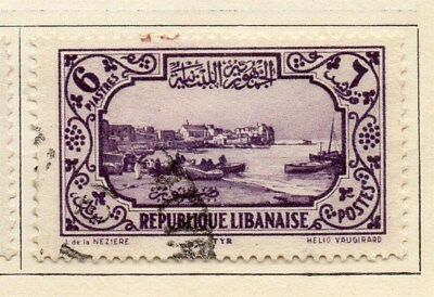 Great Lebanon 1930 Early Issue Fine Used 6p. 109570