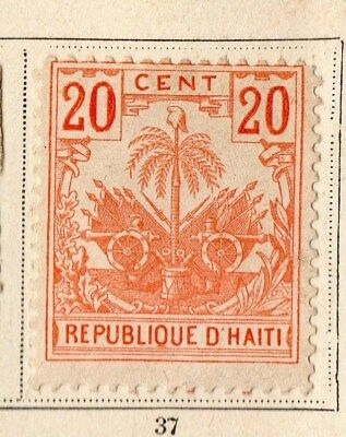 Haiti 1896-97 Early Issue Fine Mint Hinged 20c. 109797