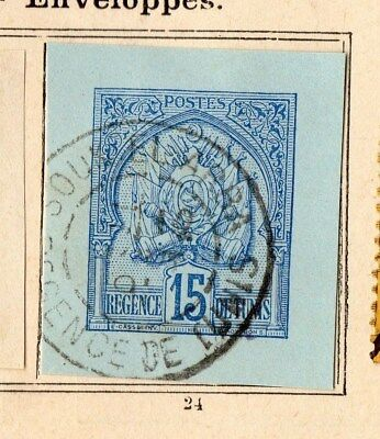 Tunisia 1888 Early Issue Fine Used 15c. Envelope 109926