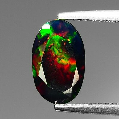 100% Natural Excellent Multicolor Black Opal Oval Cut 1.22 cts See VDO