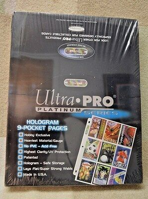 100 Ultra Pro Platinum 9-Pocket Pages Sheets - New in Box
