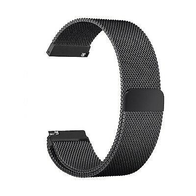 BLACK STEEL MESH Large Wristband Band Strap Accessories For SAMSUNG GEAR S3