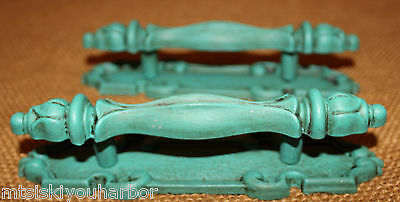 2 Drawer Pull Cabinet Backplate Sloan Chalk Paint Painted Florence Turquoise