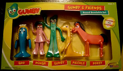 GUMBY and Friends Bendable Poseable Figure Box Set
