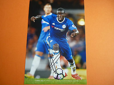 Chelsea N,Golo Kante hand signed photo 12x8
