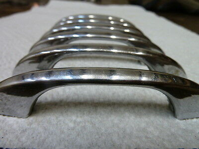 Rare Hard To Find Vintage Chrome Drawer Pulls With Screws/ Set Of Six