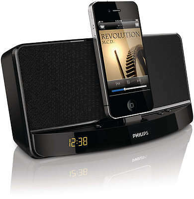 Altavoz Base Para Ipod/iphone Pantalla Reloj Aux Ad300/12 Philips