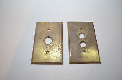 Antique Brass Push Button Light Switch Covers Architectural  single double