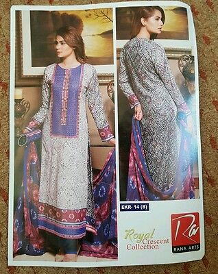 pakistani designer stitched suit with matching clutch