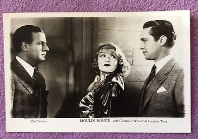 MOULIN ROUGE. with Constance Bennett & Franchot Tone Real Photo Postcard