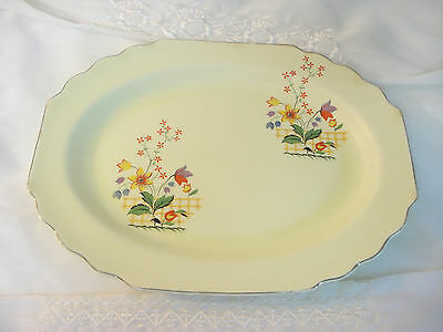 "Vintage 1930's 40's W.S. George Lido Canarytone GAYLEA 13"" Platter"