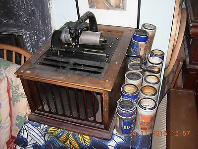 Edison Amberola cylinder phonograph fully working +14 cylinders internal speaker