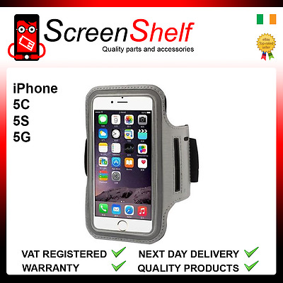 For iPhone 5,5s,5c Sports Running Jogging Gym Armband Waterproof Cover Silver