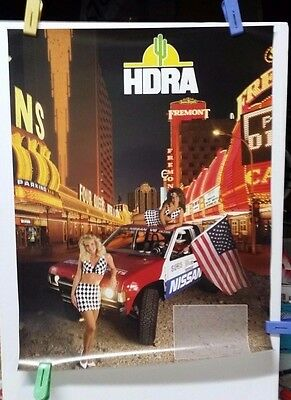 Vintage 1980's HDRA Las Vegas Downtown Off Road Nissan Racing Poster